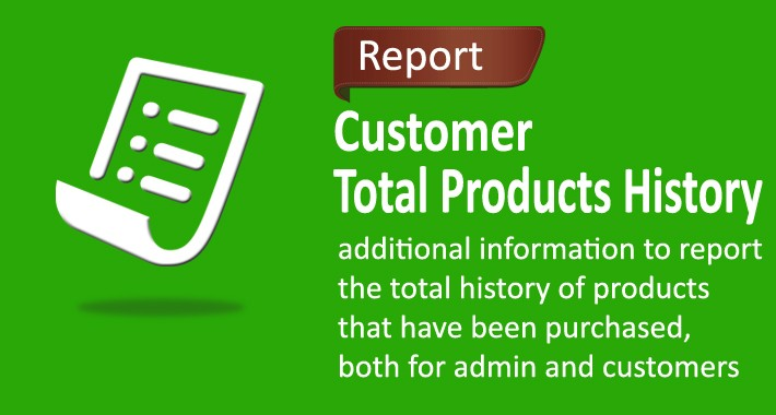 Customer Total Products History