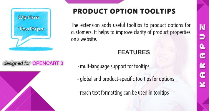 Product Option Tooltips (for Opencart 3)