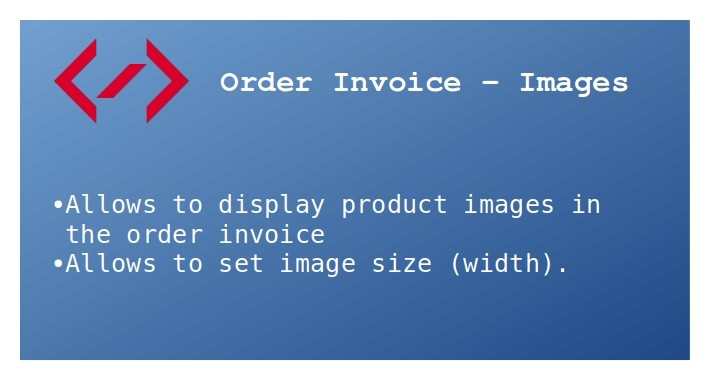 Order Invoice - Images