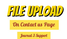 Contact Form - Upload File (Journal 3 Support)