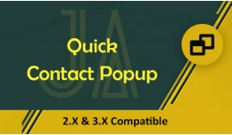 Quick Contact Popup
