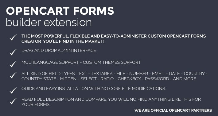 Form Builder Extension for OpenCart