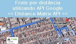 Frete por distância utilizando API Google [Dist..