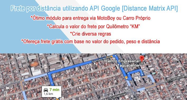 Frete por distância utilizando API Google [Distance Matrix API]