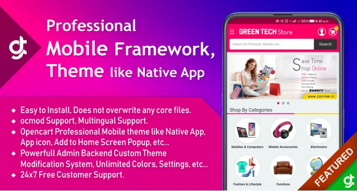 Professional Mobile Framework | Theme - SALE 30% DISCOUNT