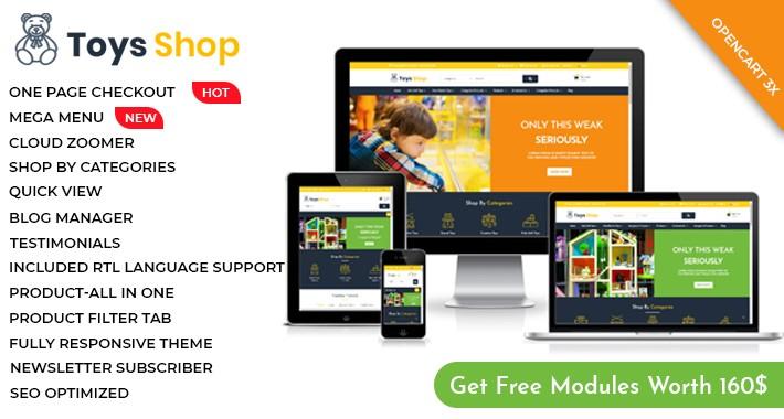Toys Shop - OpenCart 3 Multi-Purpose Theme