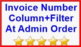 Invoice Number Column+Filter At Admin Order