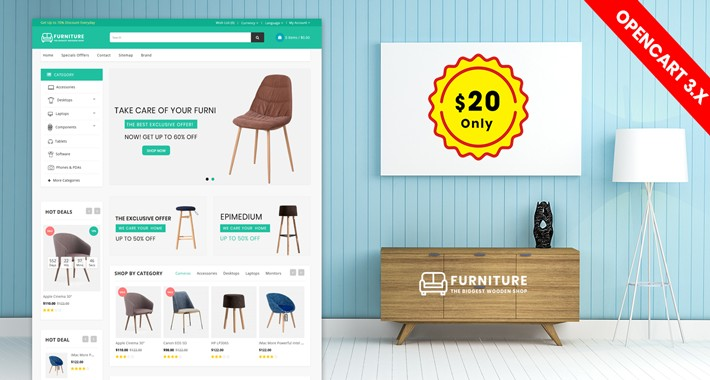 New Furniture e-commerce website Theme(Free Installation)
