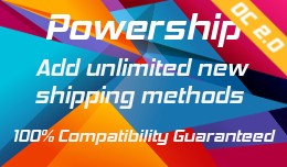 ✔ Powership: Add Unlimited New Shipping Method..