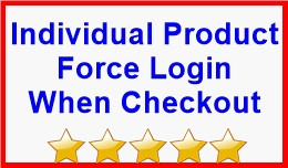 Individual Product Force Login When Checkout