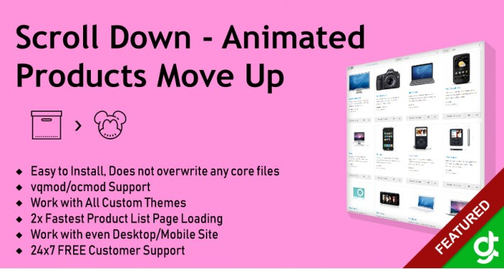 Scroll Down Animated Products Move Up Effect