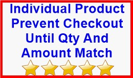 Individual Product Prevent Checkout Until Qty An..