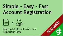Simple Easy Fast Registration - SALE 30% DISCOUNT