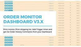 Dashboard orders monitor advance Opencart V3.x