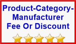 Product-Category-Manufacturer Fee Or Discount