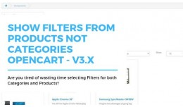 Show Filters From Products Not Categories Openca..