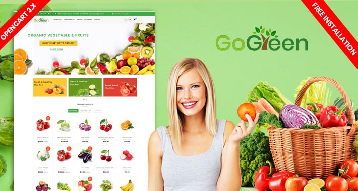 Gogreen Organic Theme (Organic, fruit, food) Free Installation