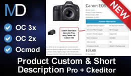 Product Custom & Short Description Pro + CkE..