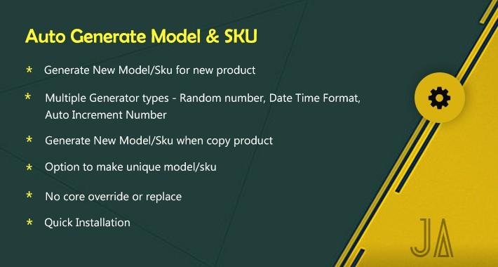 Auto Generate Model SKU
