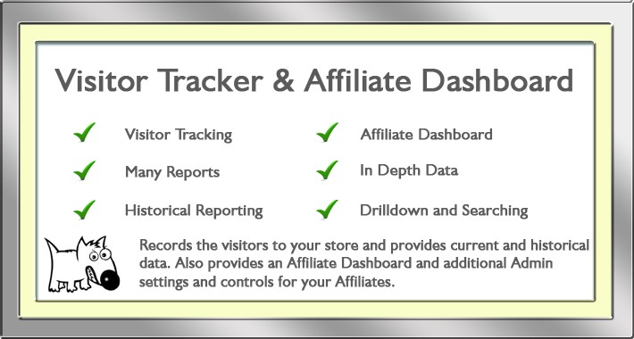 Visitor tracker and Affiliate Dashboard