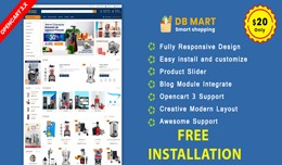 DB Mart OpenCart 3.X Website Template(grocery, A..