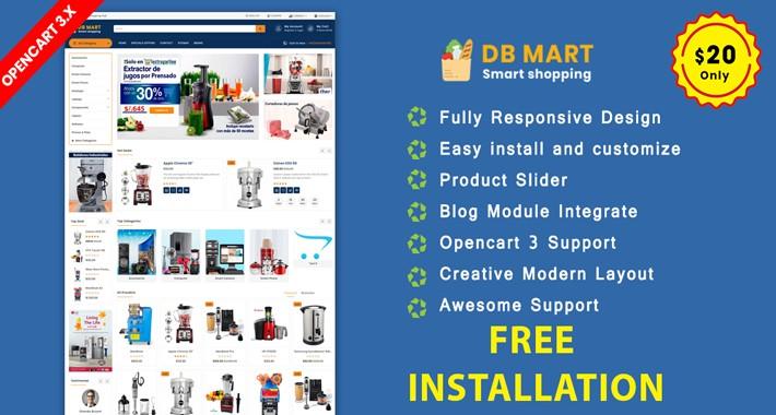 DB Mart OpenCart 3.X Website Template(grocery, Applience)