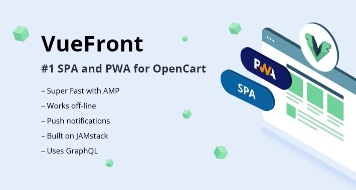 VueFront - PWA & SPA FREE for OpenCart