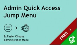 Admin Quick Access Jump Menu - vQmod