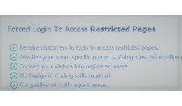 Forced Login To Access Restricted Pages