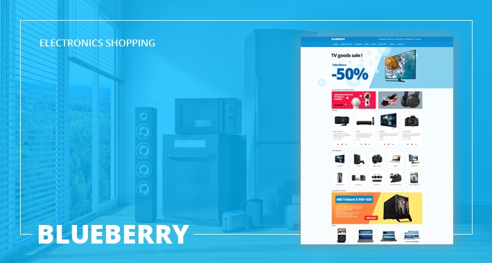 Blueberry - Electronics, Mobile, Toy Store - Responsive Template