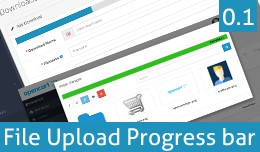 File Upload Progress bar  (Product and Downloads..