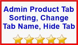 Admin Product Tab Sorting, Change Tab Name, Hide..