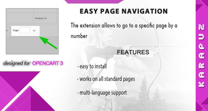 Easy Page Navigation (for Opencart 3)