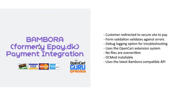 ePay.dk / Bambora Payment Integration (15x/2.x/3.0)