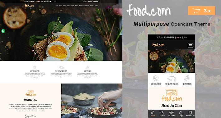 Limun.com - Food Multipurpose Responsive Opencart  3.x