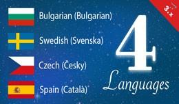 Bulgarian, Swedish, Czech, Spain opencart 3 lang..