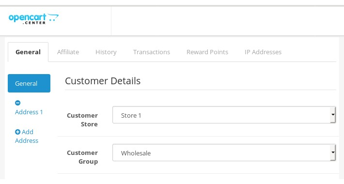 Customer account - Multistore configuration