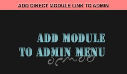 Add direct link to Modules from Admin Menu