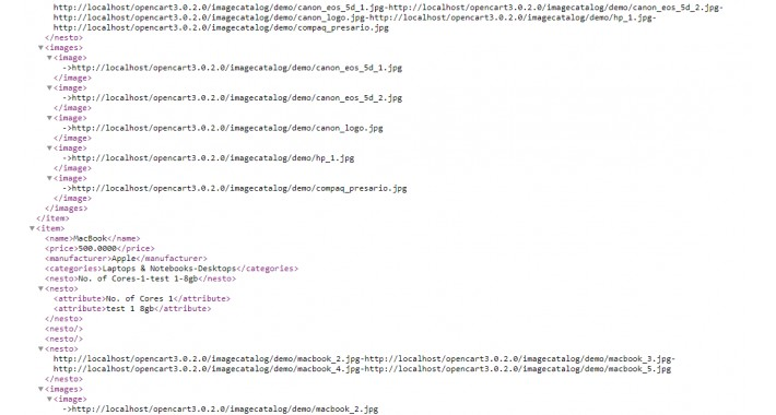 XML FEED  with editable tags ( structure )