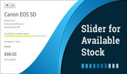 Available Stock/ Stock Left -  Slider