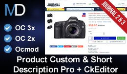 Product Custom & Short Description Pro Journ..