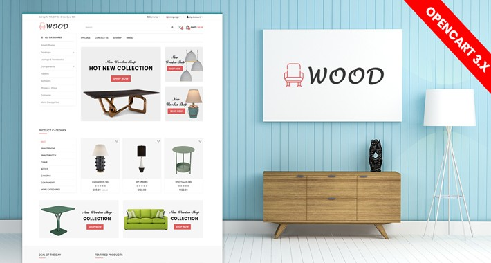 Wood Furniture Theme Opencart Theme