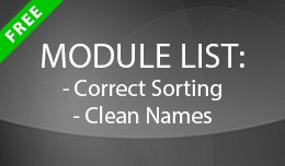 Module List: Correct Sorting and Clean Names