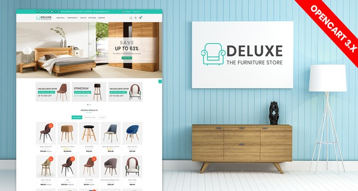 Deluxe Furniture (wooden) Theme ( Free Installation !! )