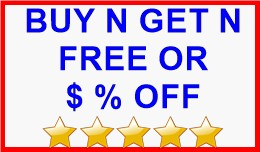 BUY N GET N FREE OR $ % OFF