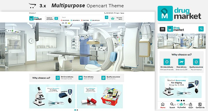 Drugmarket - Multipurpose Responsive Opencart  3.x