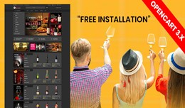 Wine shop with free installation (multivendor su..