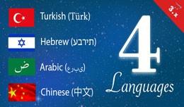 Hebrew, Arabic, Chinese, Turkish, opencart 3 lan..