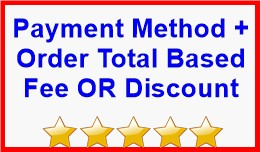 Payment Method + Order Total Based Fee OR Discount