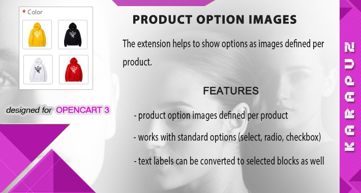 Product Option Images (for Opencart 3)